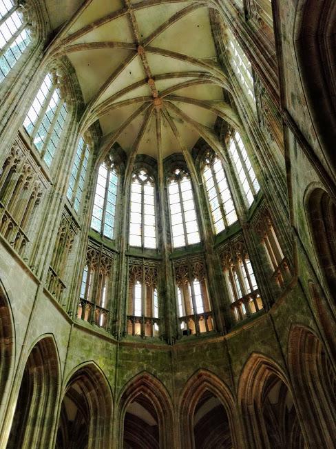 Le choeur de l'abbatiale du Mont-Saint-Michel est un pur chef d'oeuvre de l'art gothique flamboyant (Photo FC)