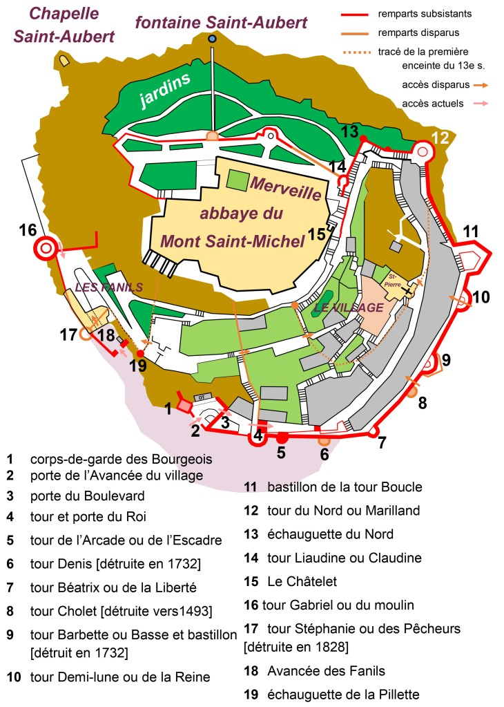 Mont-Saint-Michel le plan