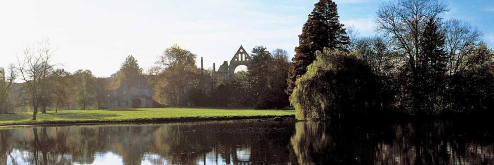 Les gîtes sont situés dans le parc de l'abbaye.