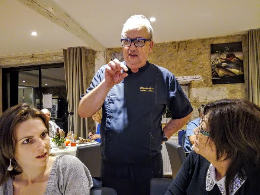Flaran hôtel de la ferme de Flaran le chef Gérard Tête (Photo FC)