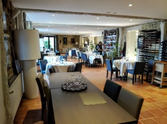 Flaran Hôtel de la ferme de Flaran salle du restaurant (Photo FC)