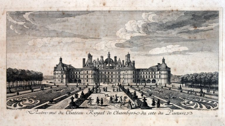 "A garden ""in the French style"" was then planted over 6.5 hectares, according to a drawing completed in 1734. (Domaine national de Chambord Photo Léonard de Serres)"