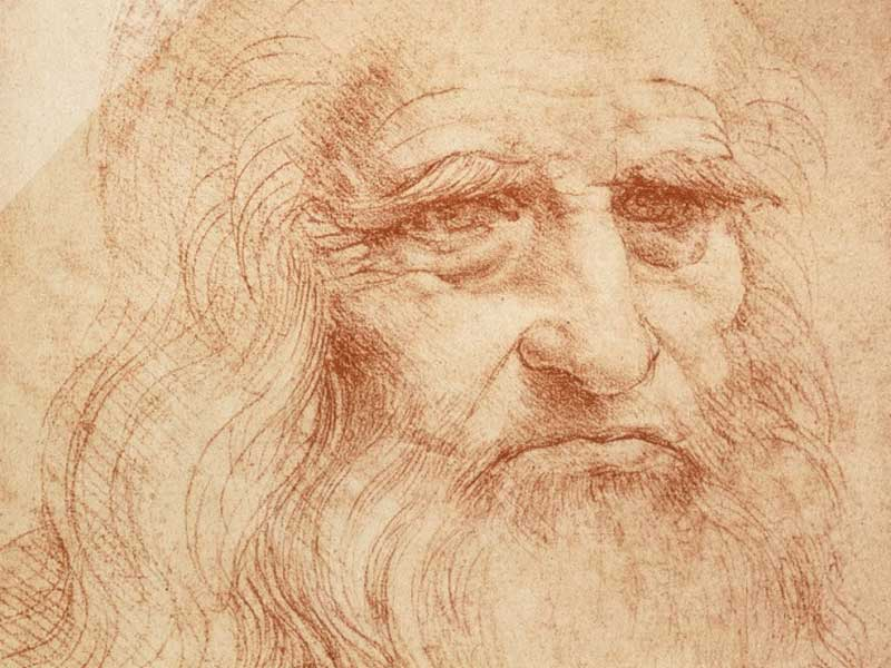 "Leonardo da Vinci (April 15, 1452 – May 2, 1519) spent his final years in France at Le Clos Lucé in Amboise, at the home given to him by King François I. Leonardo has often been described as the archetype of the ""Renaissance man"". (Self Portrait)."