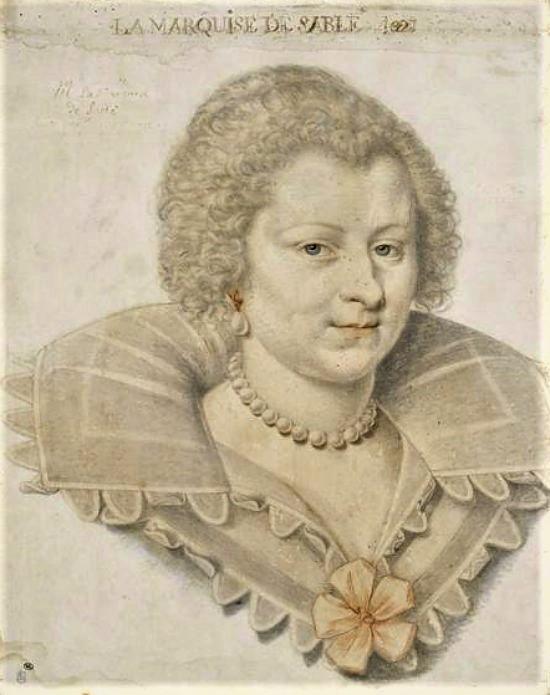 Portrait de la marquise de Sablé (dessin de Daniel Dumonstier en 1621)