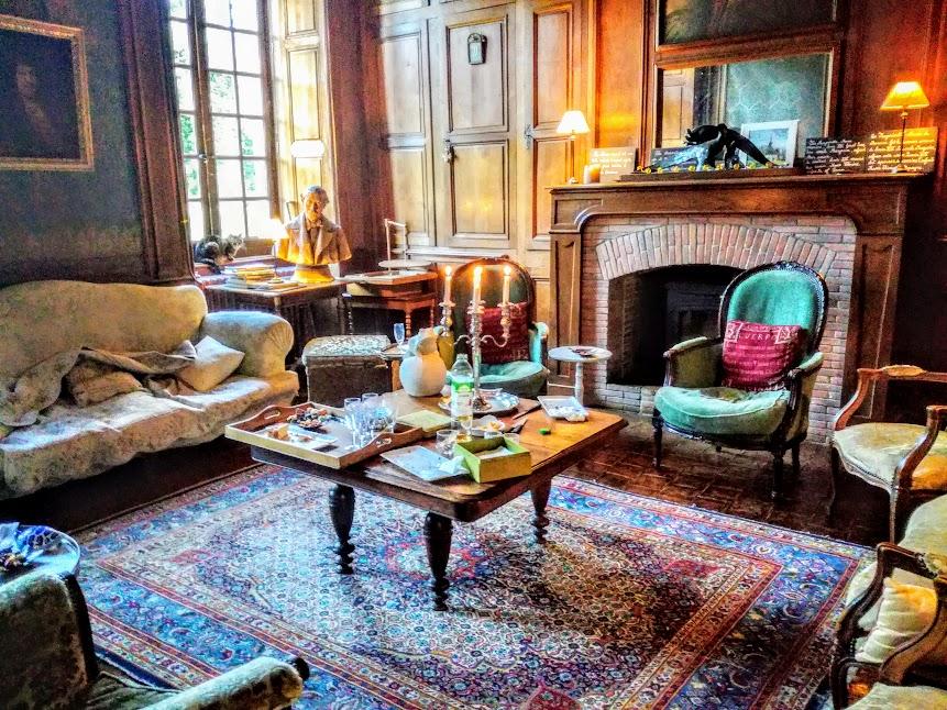Mayenne château de Bourgon le grand salon (Photo FC)