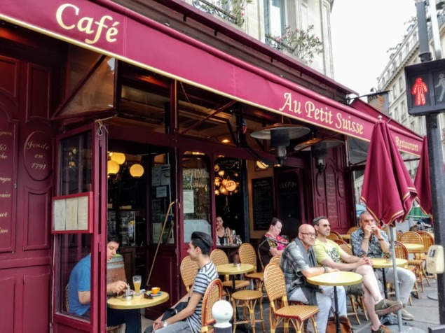 Paris summer times Odeon café Au Petit Suisse (PH FC)