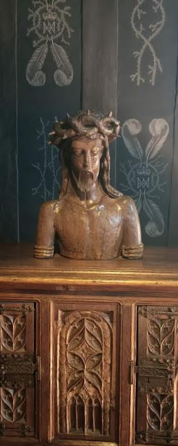 Chenonceau chambre de Louise de Lorraine Christ couronne (Photo FC)