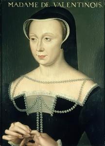 Portrait de Diane de Poitiers, duchesse de Valentinois peinte par François Clouet (1458-1541).