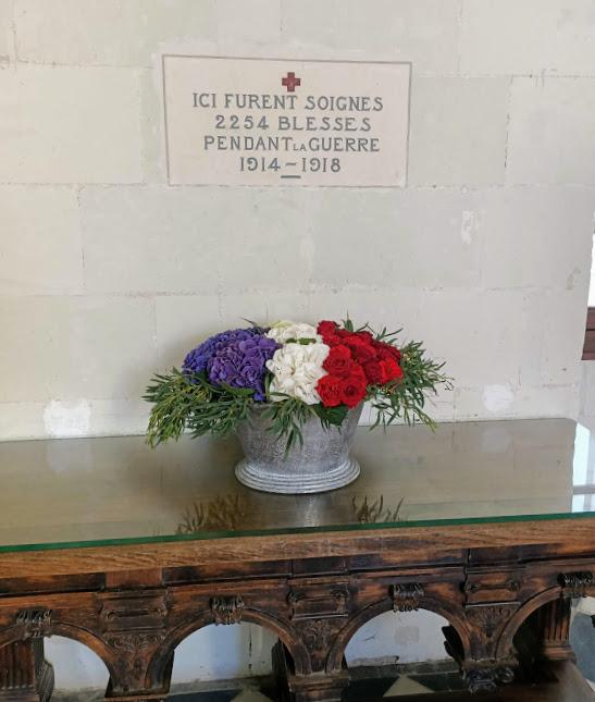 Chenonceau galerie basse plaque commémorative (Photo FC)