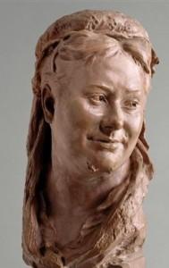 Buste de Marguerite Wilson Pelouze par Jean-Baptiste Carpeaux, Terre Cuite 1872. Il fut exécuté à l'occasion du projet de cénotaphe de la famille Wilson. (Valenciennes, musée des Beaux-Arts. Photo (C) RMN-Grand Palais / René-Gabriel Ojéda)