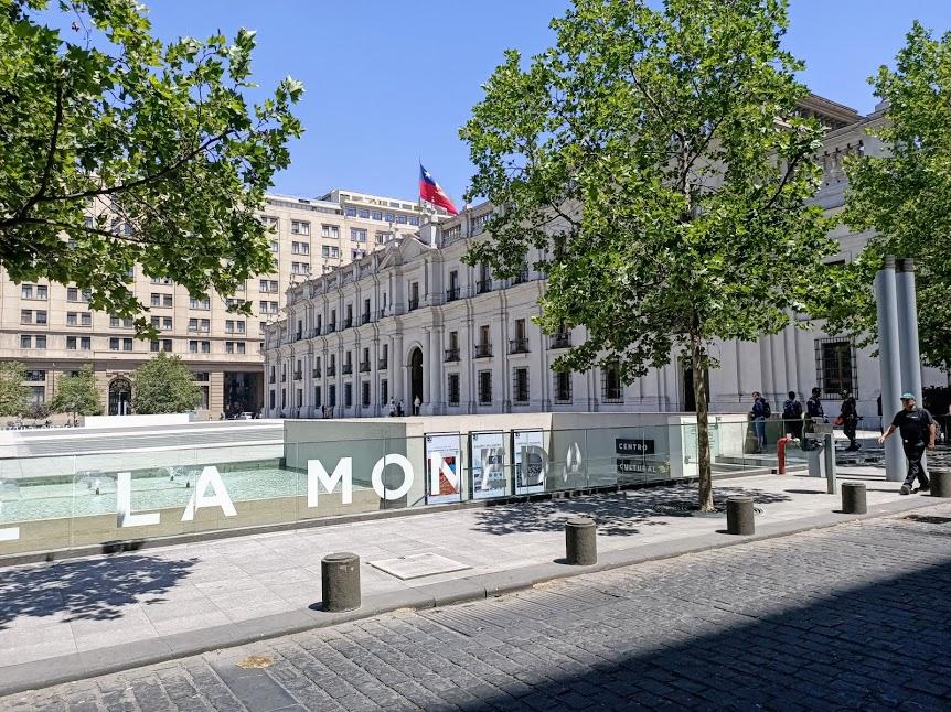 La Moneda c'est aussi un centre culturel très appécié des chiliens (Photo FC)
