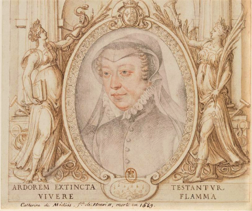 Chenonceau Catherine de Médicis François Clouet dessin 1