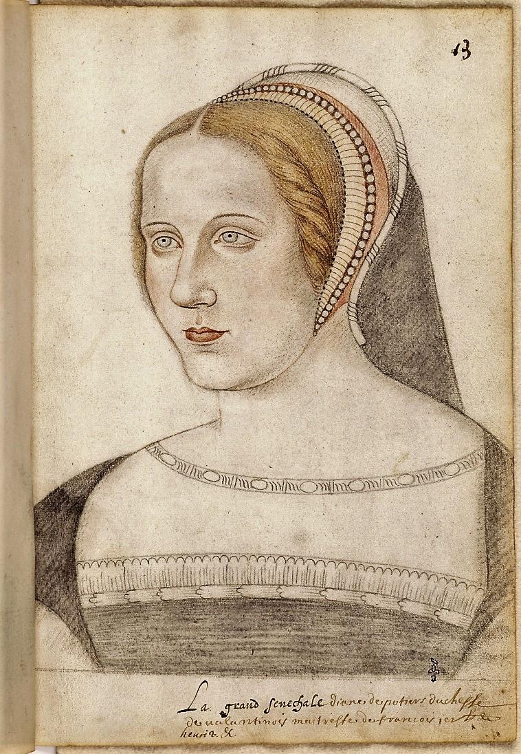 Portrait de Diane de Poitiers (recueil Destailleu),  artiste anonyme.  Photo (C) RMN-Grand Palais (domaine de Chantilly) / René-Gabriel Ojéda Chantilly, musée Condé