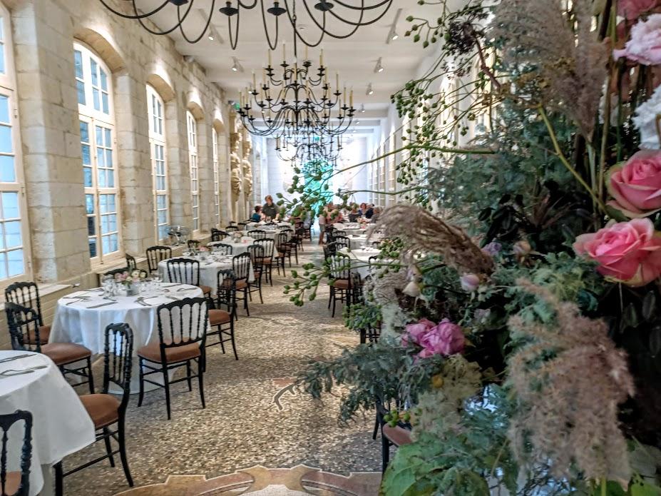 La grande salle de l'Orangerie, le restaurant gastronomique de Chenonceau (Photo FC)