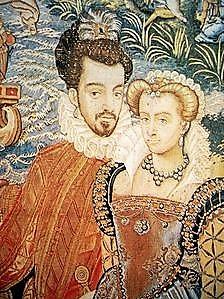 Chenonceau Louise de Lorraine et Henri III tapisserie des Valois 1