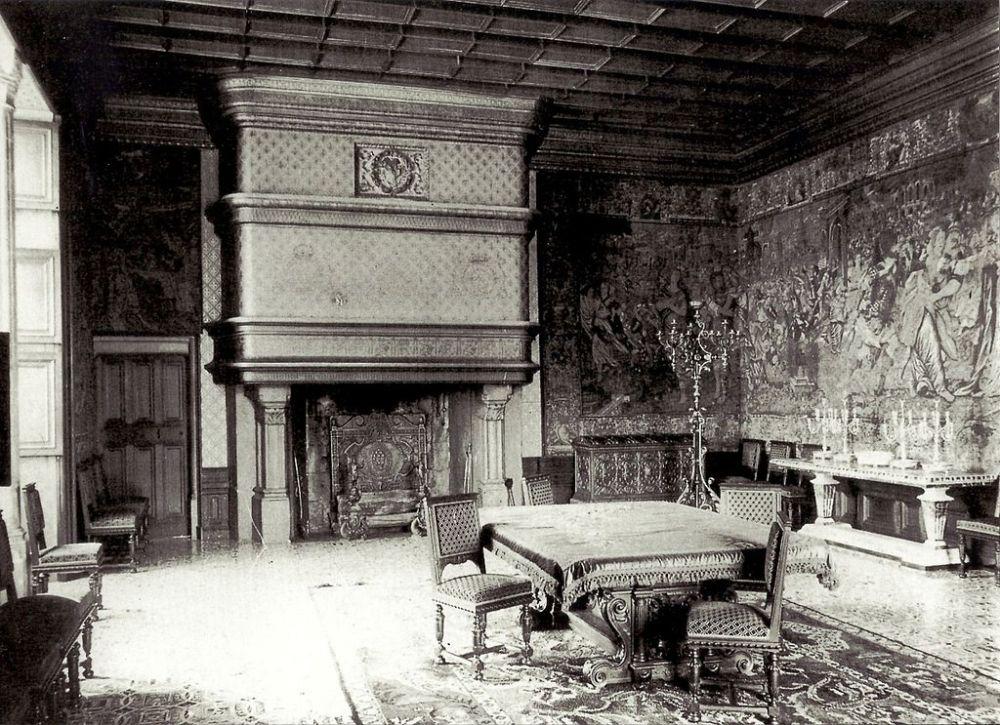 Château de Chenonceau, la salle à manger de Marguerite Wilson Pelouze vers 1885